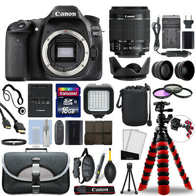 Canon EOS 80D DSLR Camera with 18-55mm IS STM Lens + 16GB Mega Accessory Bundle
