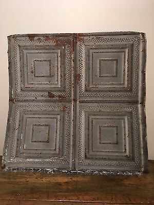 "ANTIQUE DECORATIVE TIN CEILING TILES Vintage 2' X 2' (24"" X 24"") 10+ AVAILABLE❤️"