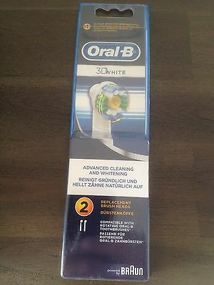 ORAL-B lot de 2 BROSSETTES Oral-B - 3D WHITE - BRAUN ® origine