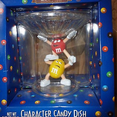 M&M's Collector Series Crystallized Acrylic Yellow & Red Character Candy Dish