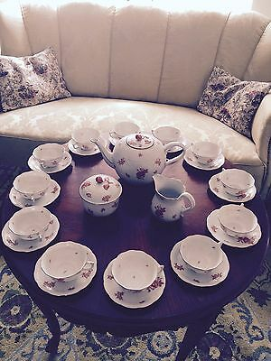 HEREND antique-china TEA  SET for 12-Entertain Downton Abbey Style this winter