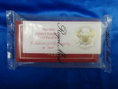 1986 UK Great Britain Gold Proof Collection 3 Coin Set 2 Pounds Sovereign Half S