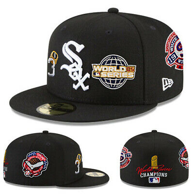 57d38ace4 New Era MLB Chicago Whitesox 5950 Fitted Hat 2005 World series Side Patch  Cap