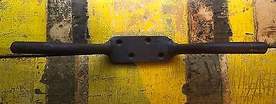 Large Antique Wrought Iron Cleat Beam Hanging Hook Hand Forged
