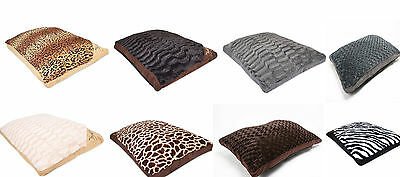 New Luxury LARGE Fur Dog Bed Cushion Washable Zipped Mattress (LARGE SIZE)