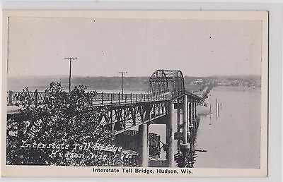 Vintage Postcard~Interstate Toll Bridge Hudson Wisconsin~Co-Mo Company Postcards