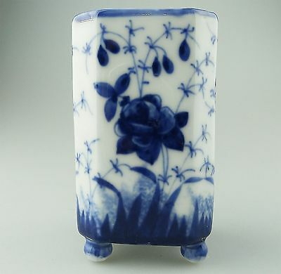 Antique Oriental Porcelain : Chinese / Japanese h/painted Vase C.1900