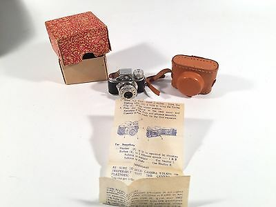 Hit Miniature Spy Camera With Box Case And Instructions Vintage Made In Japan