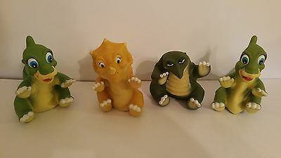 Vintage 1988 Pizza Hut Exclusive Land Before Time Rubber Hand Puppets Lot