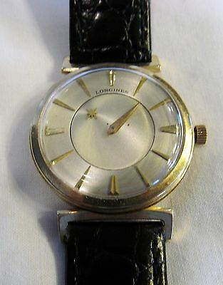 Vintage Solid 14K Yellow Gold Longines Mystery Dial Wrist Watch 17J Cal 23Z