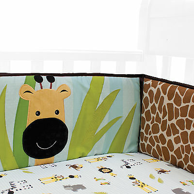 Peek A Boo Jungle 4-Piece Crib Bumper