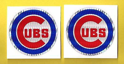 Chicago Cubs MLB Prismatic Decal Stickers Team Logo Lot of (2)