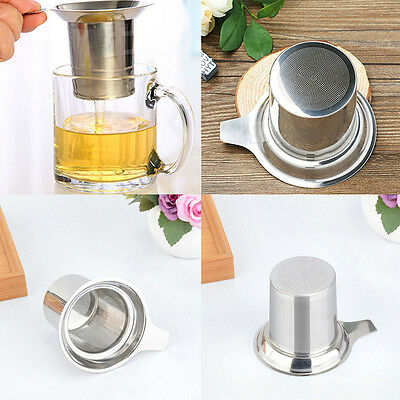 Practice Stainless Steel Mesh Tea Infuser Basket Reusable Strainer Non-toxic Mug