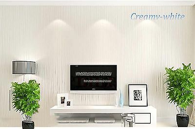 New Simple stripe Non-woven 10M wallpaper Roll living room bedroom Background
