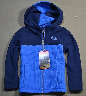 Nwt Boys Kids The North Face Todd Lil Grid Full Zip Jacket Hoodie Coat Sz 4T