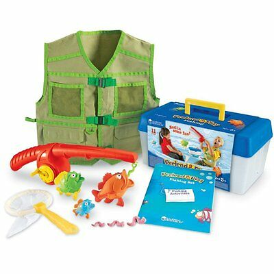 Safe Fishing Play Set Kids Toddlers Fun Learning Catch Pretend Activity Toy Kit