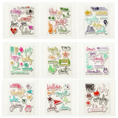 DIY Transparent Silicone Rubber Stamps Clear Cling Sheet Scrapbooking Crafts HOT