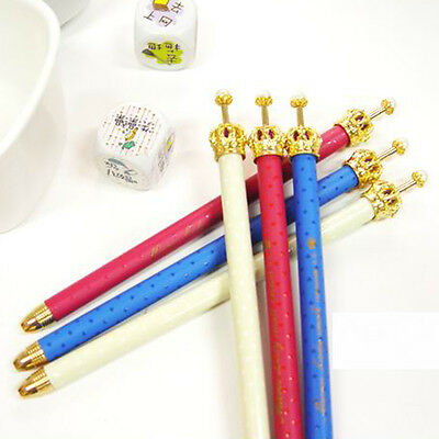 2pcs New Cute Pearl Crown Design Scalable Refill Automatic Mechanical Pencil