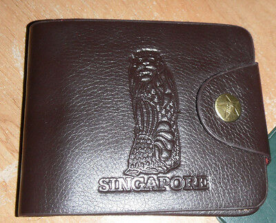 Dark Brown Singapore Wallet