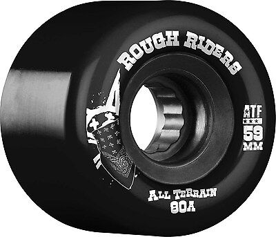 Bones - Rough Riders Black 59MM 80A Skateboard Wheels