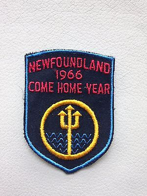 NEWFOUNDLAND (Canada) 1966 COME HOME YEAR Vintage Patch