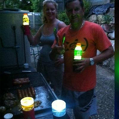 Cooler Torch GREEN - 5 Pack - Torch Multifunction LED Lights Bottle Holders NEW