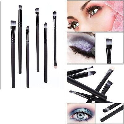 Hor Sale 6Pcs Makeup Brushes Cosmetics Set Eyeshadow Eyeliner Nose Smudge Tools