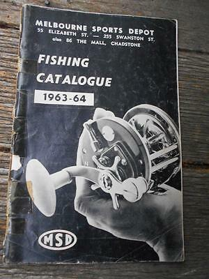 1963 Melbourne Sports Depot fishing catalogue fly reels rods creels trout fish