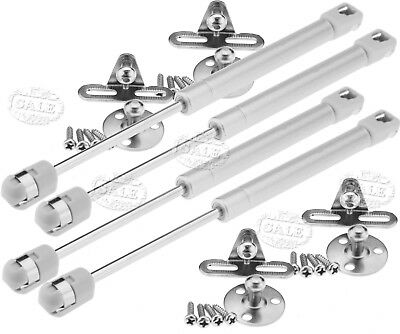 4x 100N Gas Strut Lid Stay Support Kitchen Cabinet Door Hinge Open Close AU