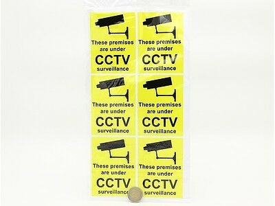6Pcs Cctv Sign Shop Or Any Business Window Accesorie