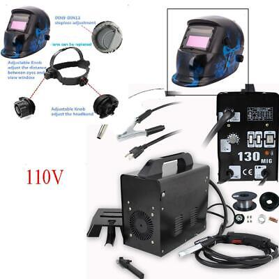Practical MIG 130 Gas Less Flux Core Wire Feed Welding Machine & Welder Helmet