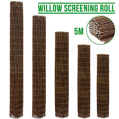 5m Long Willow Screening Roll Garden Fencing Panel Fence Wooden Outdoor