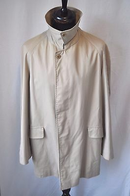 "Vintage Burberry 3/4 beige raincoat size Large 42"" made in England Classic"