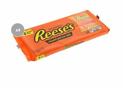903765 4 x 124g PACKETS OF REESE'S 8 SNACK SIZE MILK CHOC PEANUT BUTTER CUPS!