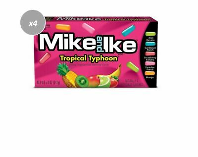 906196 4 x 141g BOXES OF MIKE AND IKE, TROPICAL TYPHOON FRUIT FLAV. CANDIES! USA