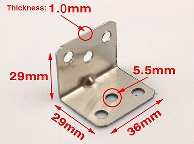 Stainless Steel L-shaped Shelf Support Corner Braces Right Angle Bracket