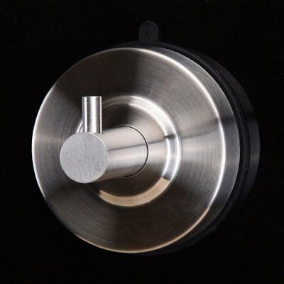 Stainless Steel Bathroom Kitchen Wall Hook Home Suction Cup Towel Hanger EU