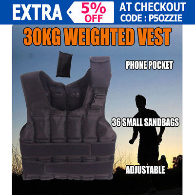 30kg Weighted Vest New Adjustable Weighted Vest Jacket Exercise Fitness Training