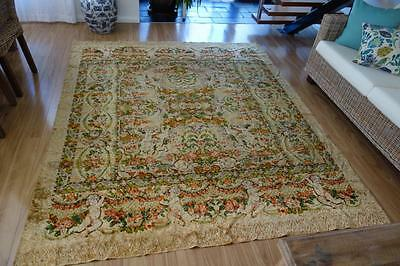 Stunning Florals & Cupds Italian Velvet Vintage Rug ~ So French Apartment