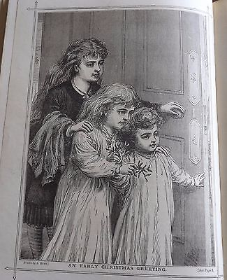 Antique Victorian Print A Hunt An Early Christmas Greeting 1888 Vintage