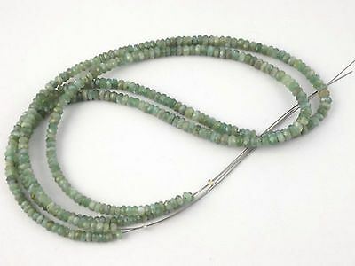 "Lovely Natural Cats Eye 3.5-4mm Faceted Rondelle Gemstone Beads Strand 14""Long"
