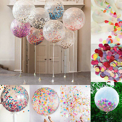 36 inch Clear Latex Balloons With Confetti Wedding Birthday Party Decoration