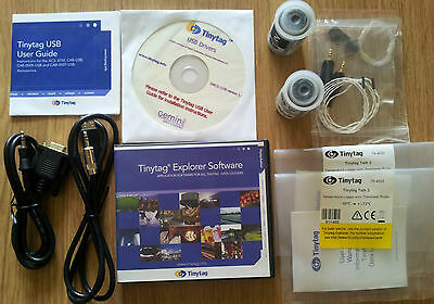 Tinytag Talk 2 Temperature Data Logger & charting software -40 to +125-degrees