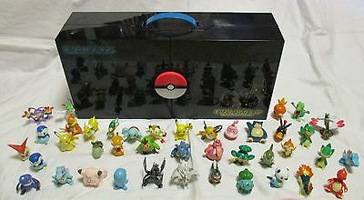 Pokemon TOMY Monster Collection Mini Figure lot of 40 & Collection Box Japan