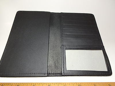 North Star Black Top Stub 6+ Card Leather Checkbook Cover-2nd-Made In USA #133-B
