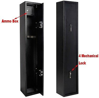 Large 3 Gun Cabinet 3 Scoped Rifle Shotgun Safe Police Approved W/2 7-Level Key