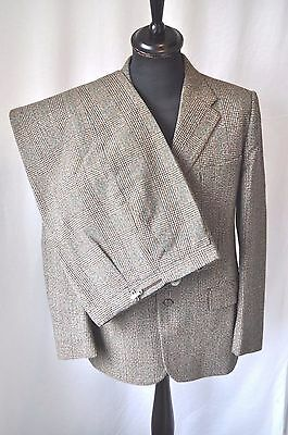 "Vintage Lynton Thornproof twist brown check Tweed suit size 38"" Waist 32"""