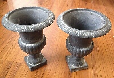 Pair Of Small Garden Cast Iron Urns U2022 U00a350.00 - PicClick UK
