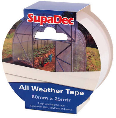 All Weather Repair Tape For Window, Greenhouse & Polytunnel 50mm x 25M, Clear