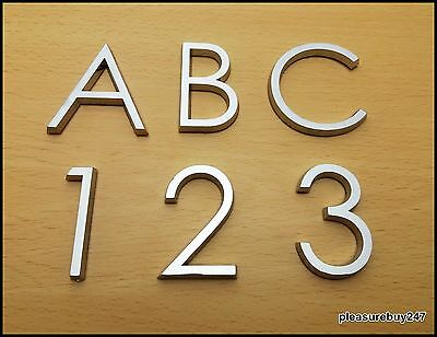 Self Adhesive Chrome Letters Numbers Silver Car Door Number 3D Height 5cm HAG